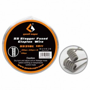 Stagger Fused Clapton Wire SS316L